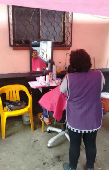 Gestión social en corte de cabello