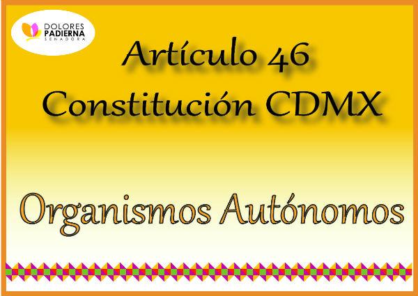 Artículos Constitución CDMX